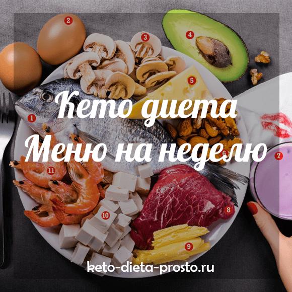 Кето-диета для похудения с меню на неделю